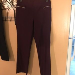 NY&CO stretch pull on dress pants size LG